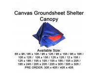 Canvas 6ft x 9ft Shelter Canopy Blue Orange Cover for Vehicles Garden Painting Shields Kanvas Kanopi Khemah Pasar Malam Kolam Ikan LittleThingy